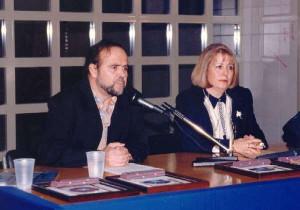 Con Antonio Abad. 1997