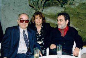 Con Fernando Arrabal y Miguel Fernández. 1992