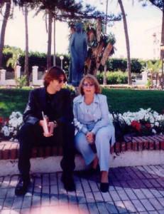 Con Benjamín Prado. 2002