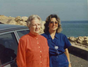 Junto a Carmen Conde. 1986
