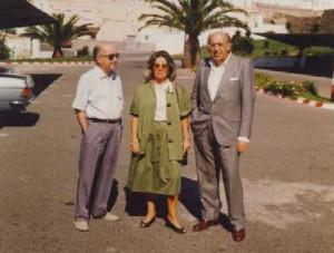 Miguel Fernández, Encarna León y Rafael Morales. 1987